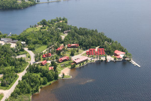 Aerial view of calabogie lodge