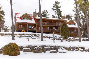 exterior view of calabogie lodge